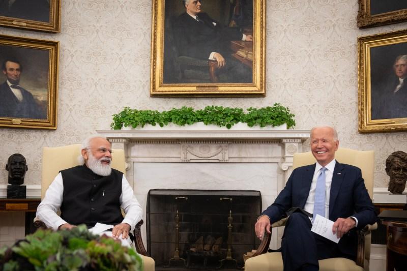 U.S. President Joe Biden and Indian Prime Minister Narendra Modi