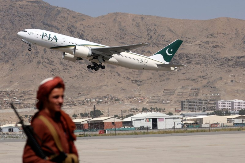 Pakistan International Airlines plane takes off from Kabul