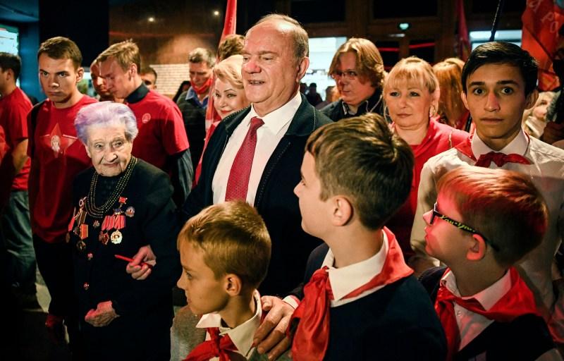 Russian Communist Party leader Gennady Zyuganov