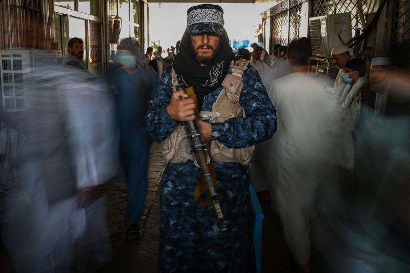 Taliban fighter in Kabul