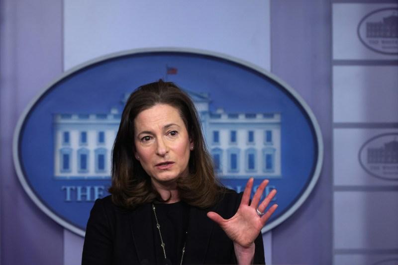 Jennifer Klein speaks at the White House.