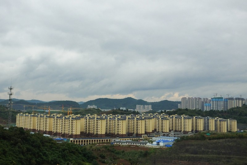Residential buildings under construction are seen in Yichang, China, on Oct. 20.