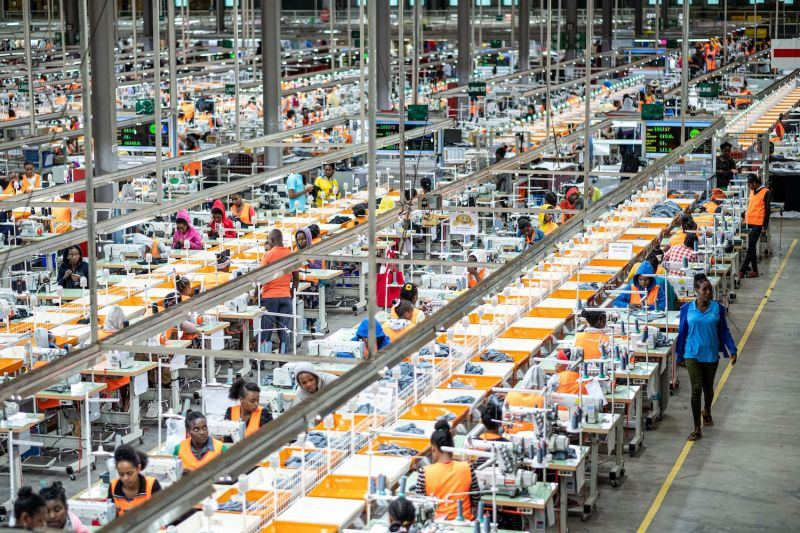 A general view of a garment factory at the Hawassa Industrial Park in Hawassa, southern Ethiopia on Oct. 1, 2019.