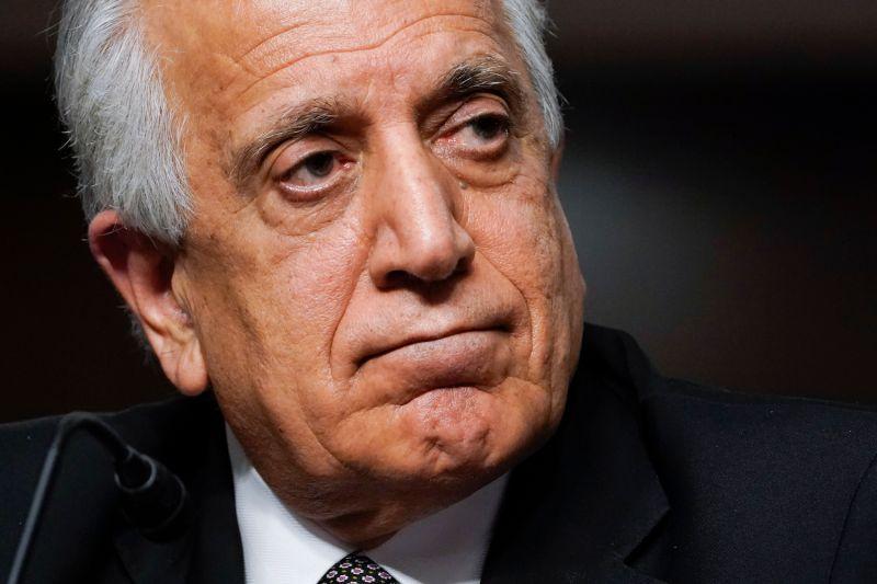 A close up photo of Zalmay Khalilzad's face.